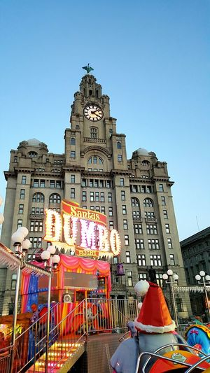 Celebration Travel Destinations City Dusk Tourism Architecture Clock Tower Illuminated Market Outdoors No People Liverpool Waterfront Mobile Photography Samsung Galaxy S6 Edge+ Fairground Fairground Ride Liverpool, England City Night View DUMBO Fairground Attraction Fairground Lights Liver Building