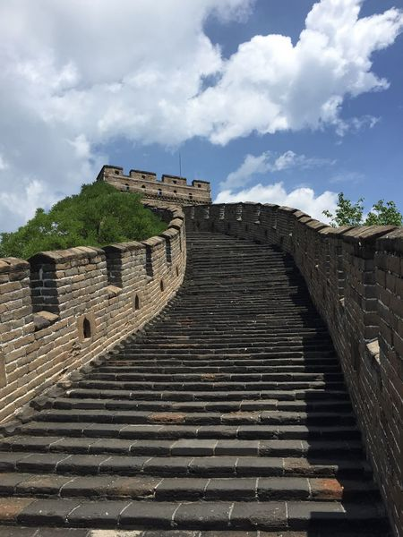 The Great Wall Great Wall Of China China Mutianyu Blue Sky Gorgeous Day Fresh On Eyeem  Beijing BEIJING北京CHINA中国BEAUTY