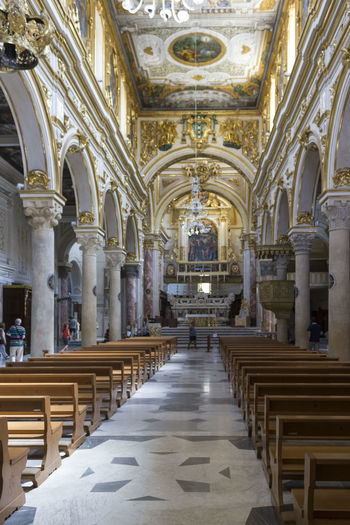 Matera Italy Unesco UNESCO World Heritage Site Architecture Built Structure Place Of Worship Building Seat Belief Religion Indoors  Architectural Column Pew Spirituality Arch Bench The Past History In A Row Travel Destinations Ceiling No People Aisle Altar