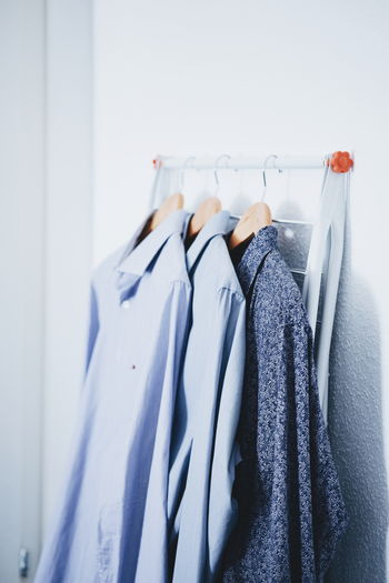Shirts Hanging On Rack