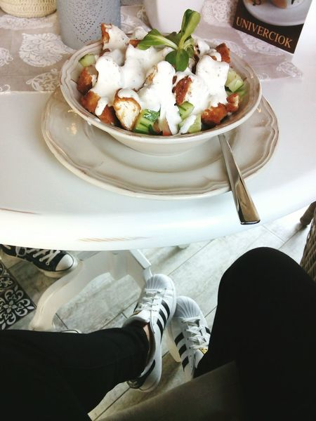 Olitangerine Fashionblogger Afternoon Dinner Salad Foodporn Adidasoriginals Superstar Classy Spring