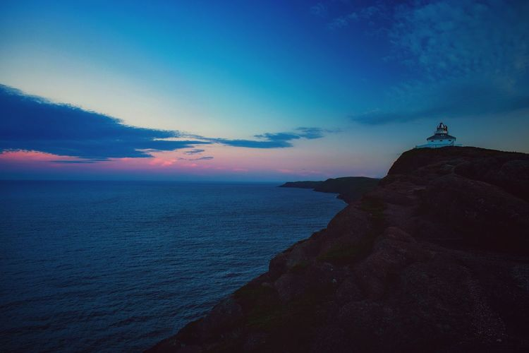 COLOURFUL SUNSET ON THE CAPE Sea Horizon Over Water Sky Night No People Outdoors Building Exterior Architecture Water Sunset Lighthouse Nature Astronomy