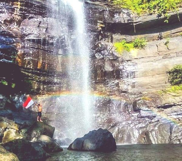 Waterfall karawa, indonesia was beautiful Instagood Instalike Instamksr Beautifulview