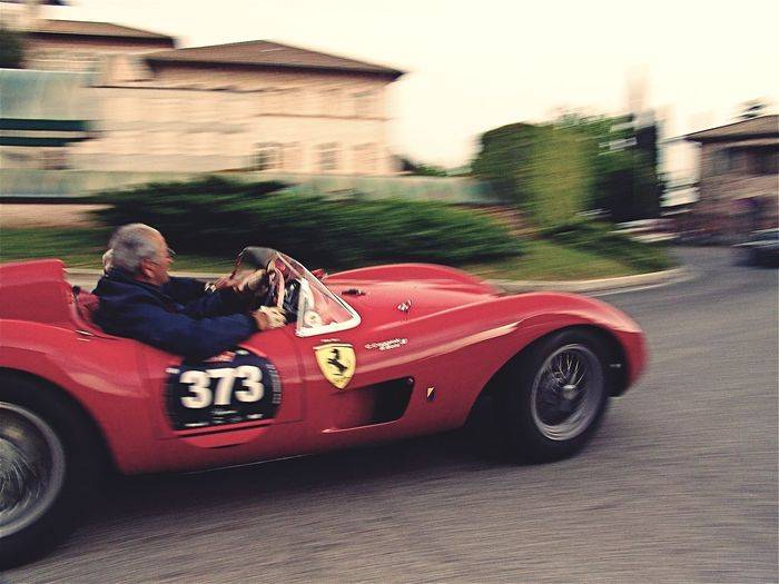 Mille Miglia Ferrari Racing Italy Vintage Vintage Race Car Race Car Mille Miglia Ferrari Transportation Land Vehicle One Person Real People Motor Vehicle Car Leisure Activity Road Be Brave