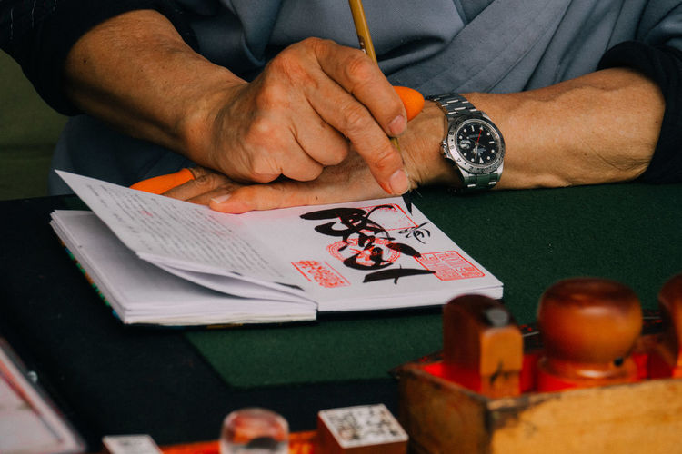 Nara Nara,Japan Japanese Writer Japanese Writing Calligraphy Monk  Notebook Red-stamp Notebook Goshuinchou Goshuin The Photojournalist - 2017 EyeEm Awards Modern Workplace Culture