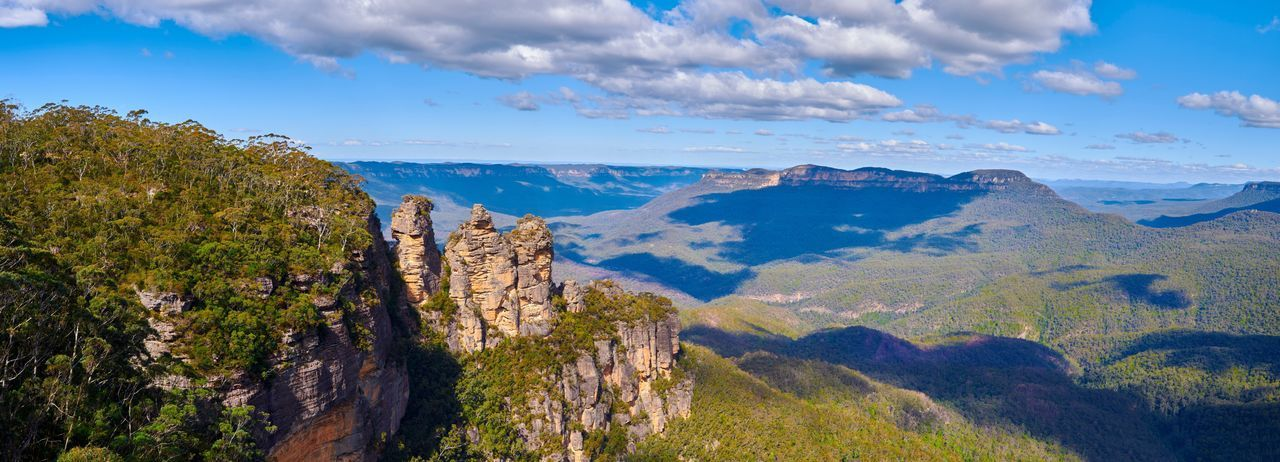 Cloud - Sky Mountain Blue Blue Mountains National Park Australia Forrest Landscape Landmark 3 Sisters Nature Travel Destinations Rock Amazing Katoomba