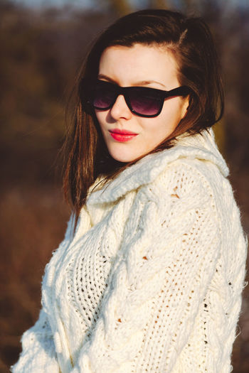 One Person Young Adult Portrait Fashion Clothing Adult Focus On Foreground Young Women Beautiful Woman Brown Hair Winter Glasses Beauty Looking At Camera Women Warm Clothing Hair Sunglasses Hairstyle Scarf Outdoors