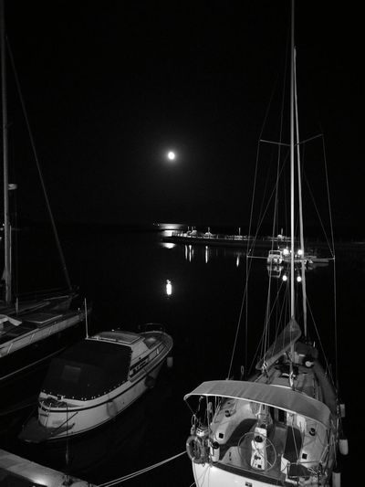 Sea Moonlight Boats⛵️ Boat Hello World Relaxing Enjoying Life Hi! Taking Photos First Eyeem Photo