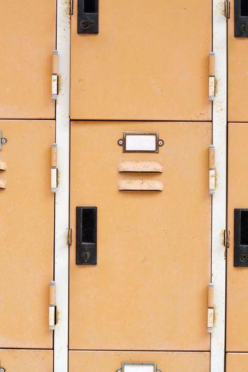 Full Frame Shot Of Closed Lockers