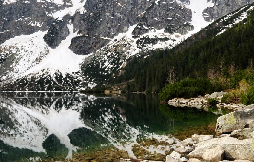 Morale old lake view in Poland Nature Mountain Outdoors Lake Landscape Scenics Beauty In Nature Day Water Travel Poland Morskieoko Travel Destinations Tranquility Beauty In Nature Reflection Forest Wood Art Is Everywhere