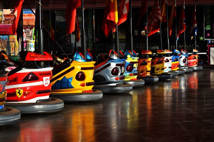 Sports Race Sport Illuminated Car Competition Racecar Starting Line Competitive Sport Multi Colored No People Motorsport Auto Racing Yellow Taxi Professional Sport Gambling Outdoors Day Luna Park Joke