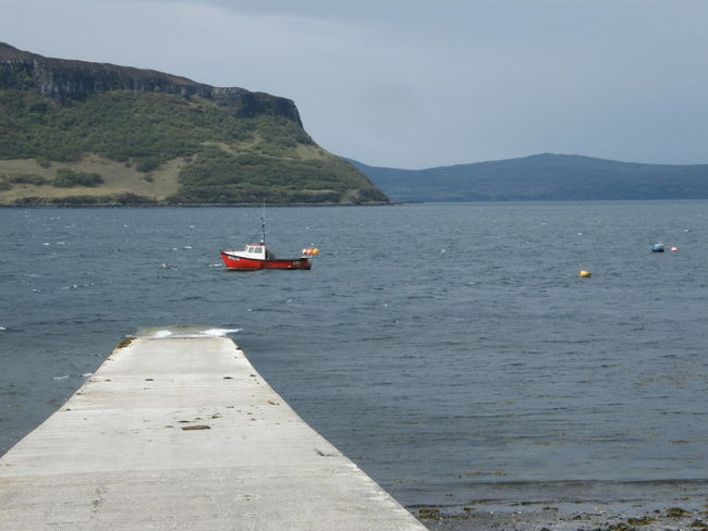 Coastline Cultures Day Eco Tourism Isle Of Skye Jetty Landscape Mountain Nature Nautical Vessel No People Outdoors Red Boat Scotland Sea Slipway Stein Stein Jetty Water
