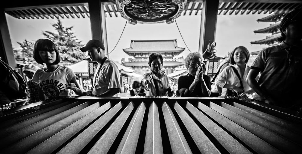 """""""Praying For You"""" Black And White Blackandwhite Photography Day Japan Sky Streetphotography Temple Tokyo Tokyo Street Photography The Street Photographer - 2017 EyeEm Awards My Best Photo"""