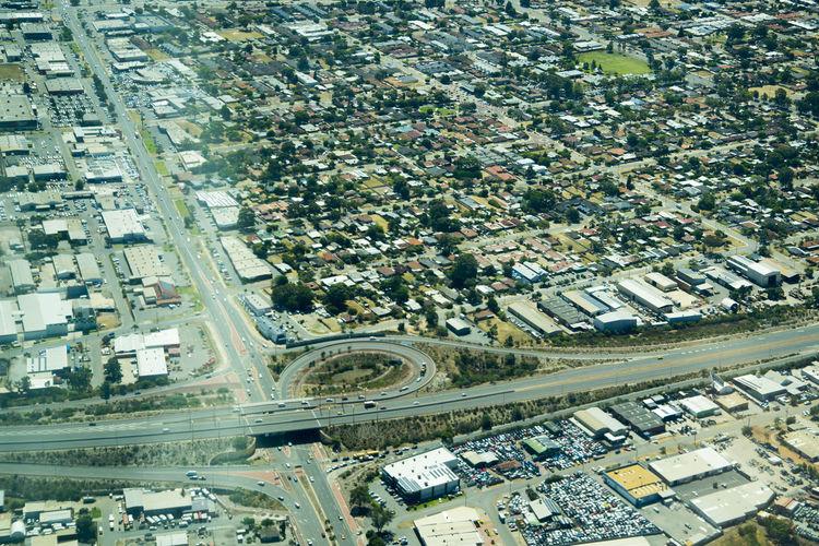 Perth & Suburbs Australia Perth Suburb Aerial View Residential District