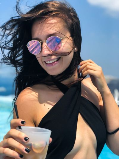 Smiling Young Women Happiness Portrait Drink Beautiful People Women Beautiful Woman Enjoyment Fun