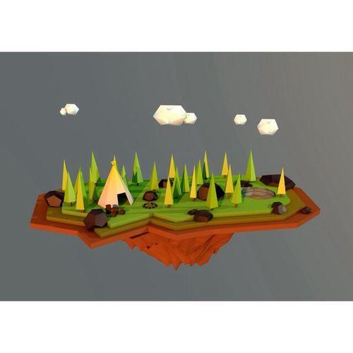 Camp Art Lowpoly Design Viscom #view