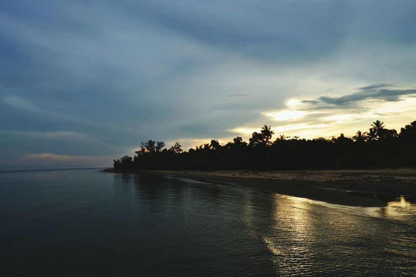 Pagatanbeach INDONESIA Indonesia Photography  Kalimantan Selatan Pagatan Reflection Tree Water Tranquility Cloud - Sky Nature Sunset