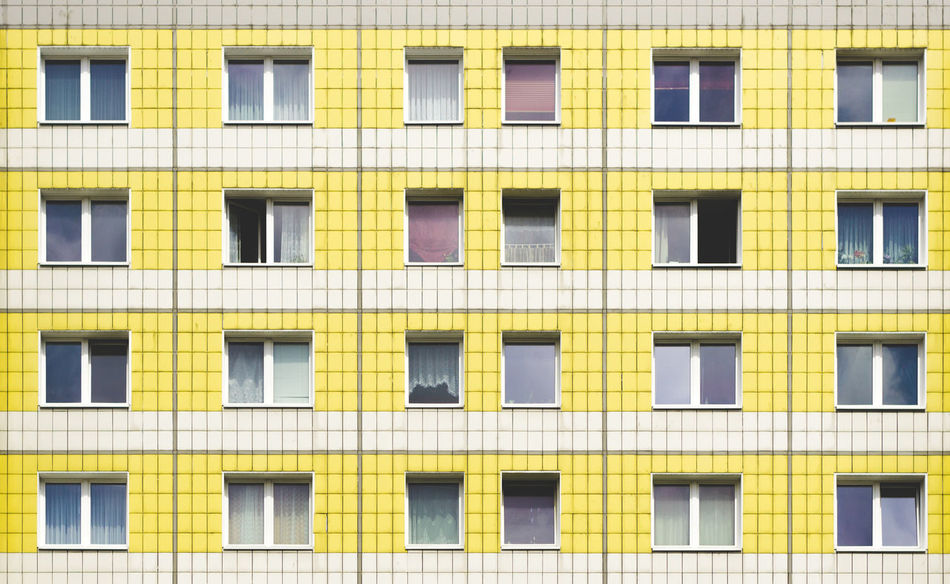 Architecture Backgrounds Building Exterior Built Structure Day Full Frame No People Outdoors The Architect - 2017 EyeEm Awards Window Yellow EyeEm Selects Paint The Town Yellow The Graphic City