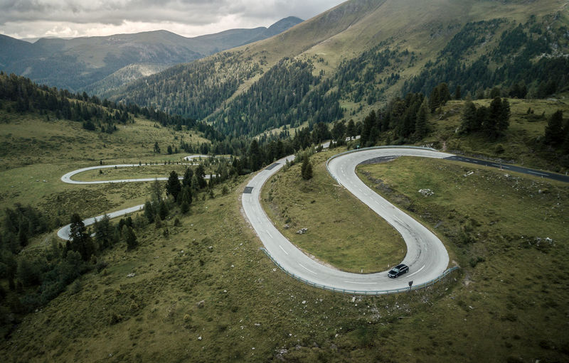curvy road from above with drone Mountain Road Scenics - Nature Landscape Environment Transportation Mountain Range Beauty In Nature Winding Road Day Mountain Road Curve Nature No People Non-urban Scene Car Motor Vehicle Land Vehicle Mode Of Transportation Tranquil Scene Outdoors