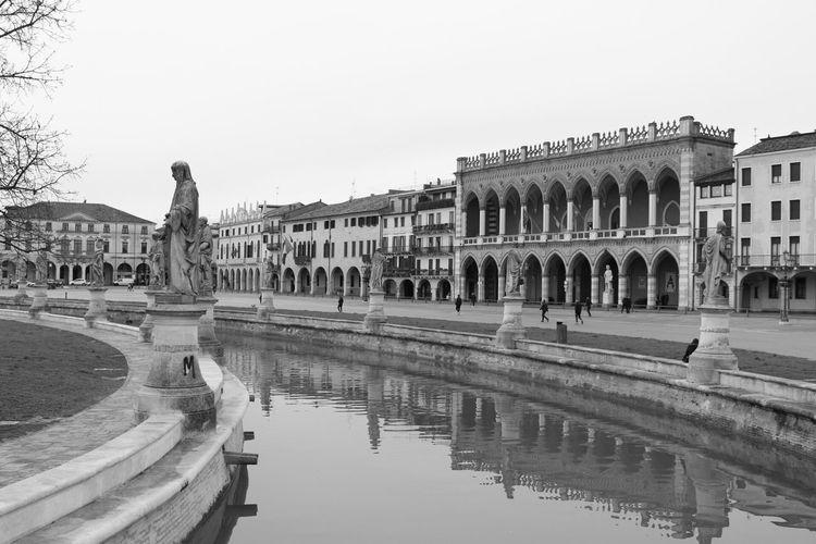 Padova Padoue Pratodellavalle Outdoors Black And White