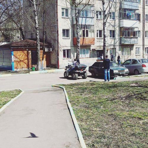 Один из дворов моего города Саранска весна 2016 City Day Architecture No People