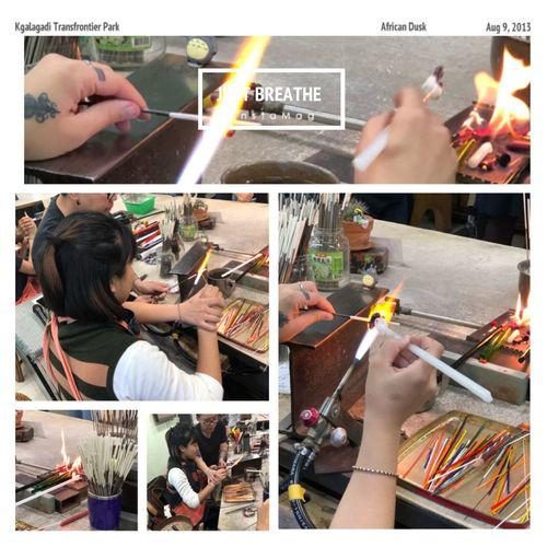 台灣原住民琉璃珠 Glass Beads From Taiwan's Aboriginal People😉😉 Indoors  Real People Multiple Image One Person Day Human Hand Close-up