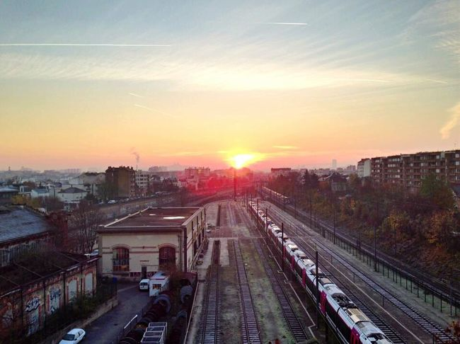 Bois-colombes Paris Sunset Sunrise Sunset_collection Sky And City Relaxing HDR Skyscapes Sky_collection Train Station Train Trainline Trainlines Sky And Clouds Hdr_Collection