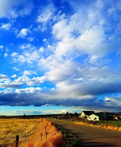 Cloud - Sky Sky Outdoors Blue Agriculture No People Day Scenics Tranquility Nature Rural Scene Landscape Beauty In Nature From My Point Of View Sunset_collection Dramatic Sky Colorado Photography Farmlife Farm Life Castle Rock, Co Beauty In Nature Tranquility Sunset Storm Approaching Nature