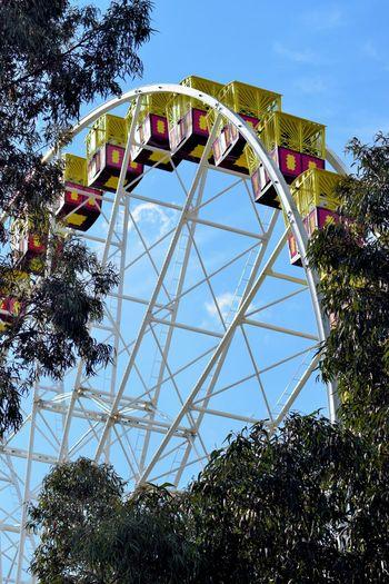 Amusement Park Amusement Park Ride Arts Culture And Entertainment Built Structure Day Ferris Wheel Low Angle View Outdoors Sky
