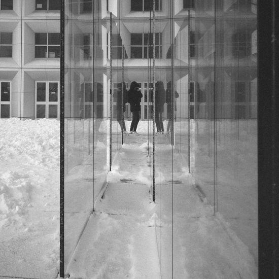 La Defense Paris Blackandwhite Monochrome Snow Streetphotography