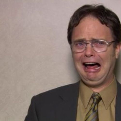*my feelings towards university right now* Dwight Theoffice Crying Whensgraduationagain ?
