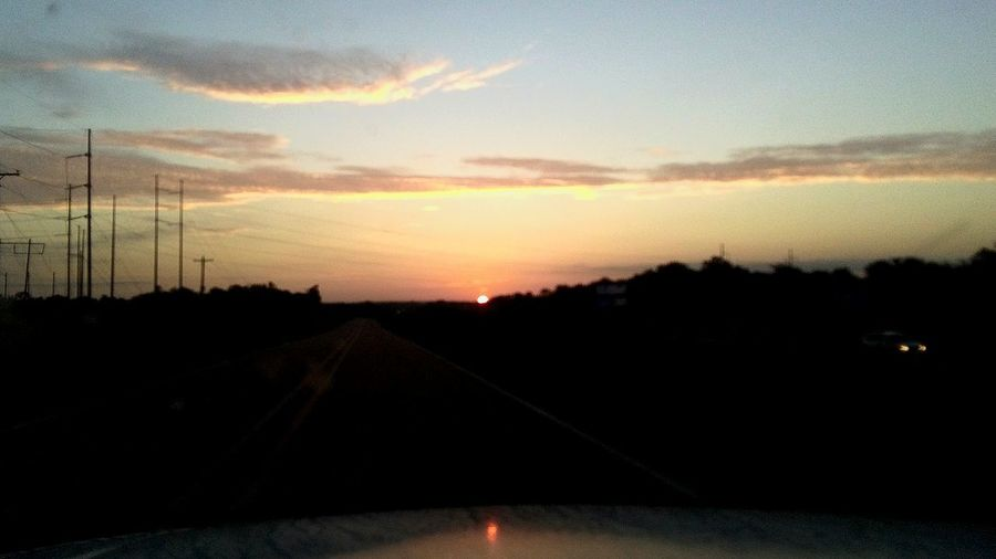 Road Car Point Of View Windshield Sunset Sunrise_sunsets_aroundworld Sunrise_Collection Sunrise And Sunsets Daybreak Embrace Morning Sky EyeEm EyeEm Selects EyeEm Nature Lover EyeEm Best Shots - Sunsets + Sunrise EyeEm Best Shots Highways&Freeways