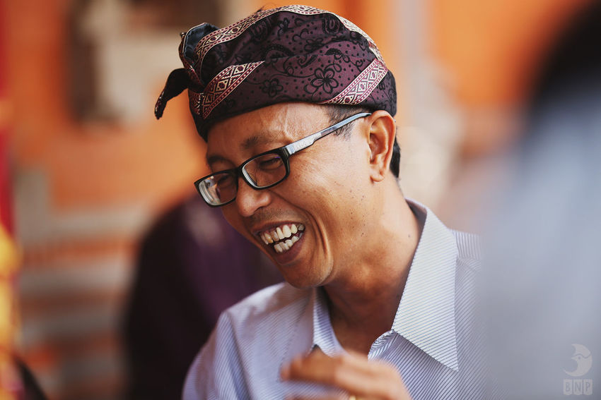 Happy Portrait People Bali Everyday Lives