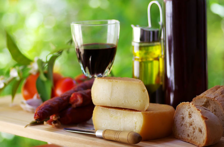 portuguese bread, cheese an red wine Bread Cheese Close-up Dairy Product Drink Food Food And Drink Freshness Glass Red Wine Snack Table Wine Wineglass