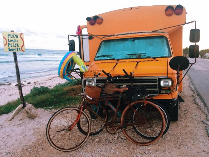 Tulum Playa Beach Camping Bicycle The Adventurer - 2015 EyeEm Awards