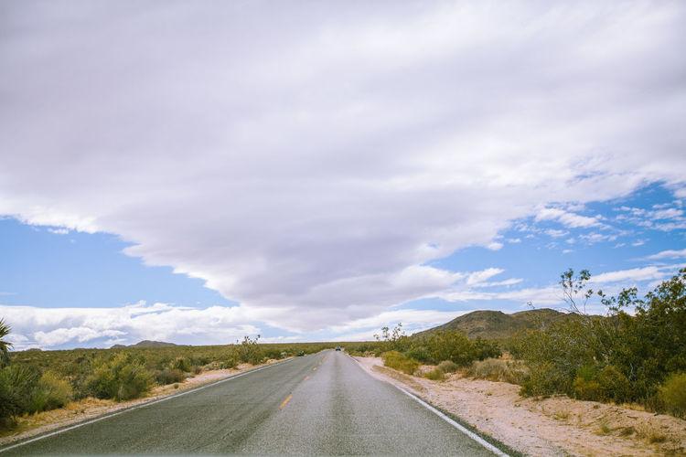 Surface level of road along landscape