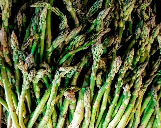 Full Frame Shot Of Garden Asparagus
