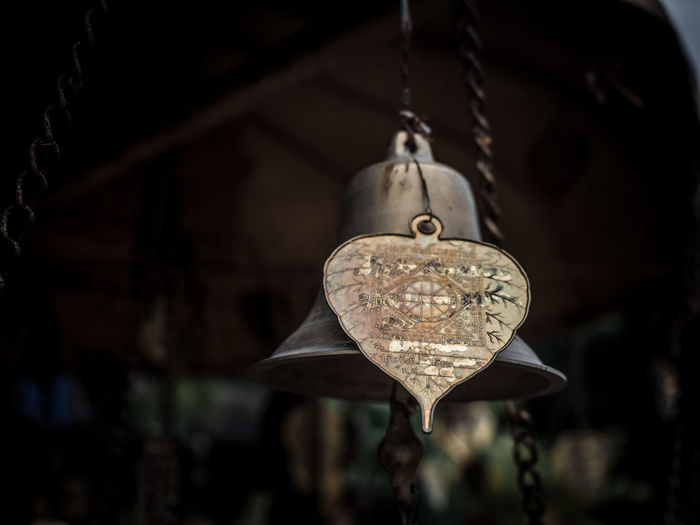 Faith in my lifr Hanging Heart Shape Locket Close-up Bell Bell Tower Ringing Bell Tower - Tower Cross