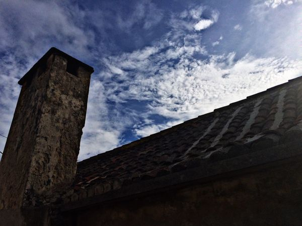 Low Angle View Sky Built Structure Architecture Building Exterior No People Cloud - Sky Outdoors Blue Sky Blue Old Old Buildings
