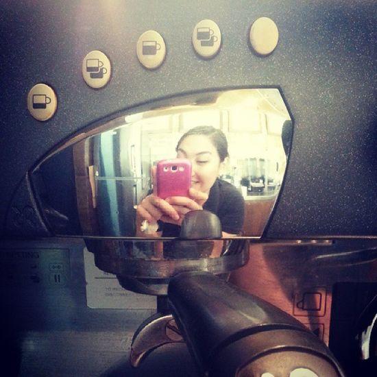 Barista selfie! Portafilter Grouphead Controlpanel Rancilio