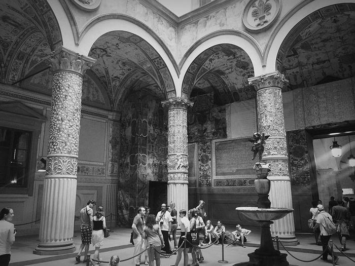 Florence Museum Art Lights Blackandwhite