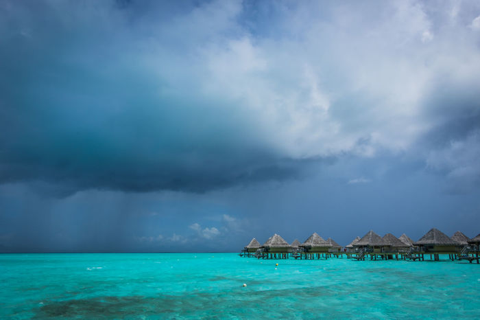 Architecture Beauty In Nature Bora Bora  Bora Bora Storm Built Structure Cloud - Sky Day Its Not Always Sunny In Bora Bora Landscape Nature No People Outdoors Rain Clouds Scenics Sea Sky Storm Storm Cloud Storm Clouds Storm Clouds Gathering Tahiti Thunderstorm Travel Travel Destinations Water