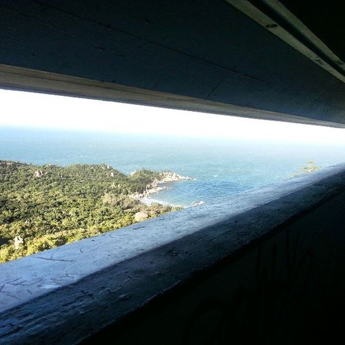 View from a WWII soldier out of a bunker on magnetic island. Australia Magneticisland Soldier Worldwar bunker fort