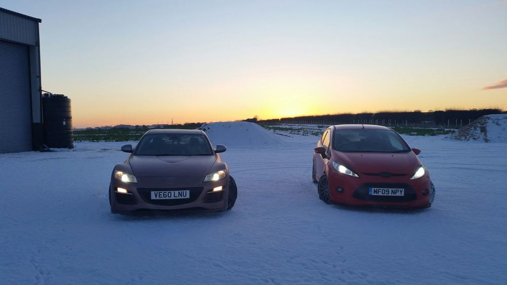 Safe to say that snow didnt stay fresh for long.. Rx8 Zetec S Zsoc Snow Drift Mazda Ford RotaryLife Cars