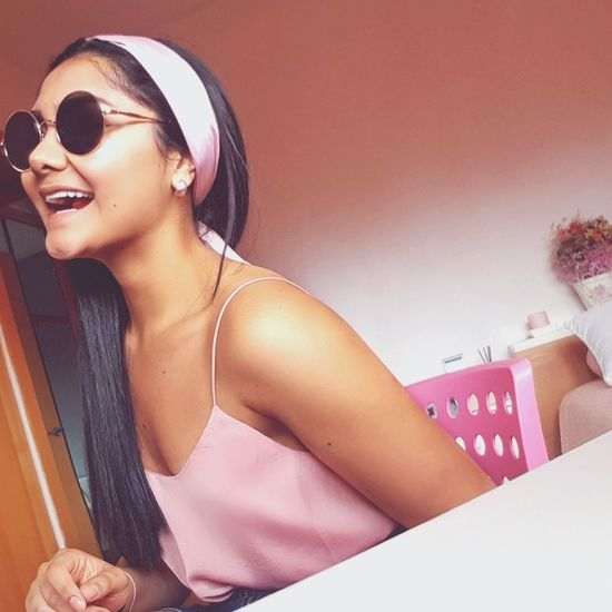 Portrait Beauty Beautiful Woman Young Women Sunglasses Pink Color