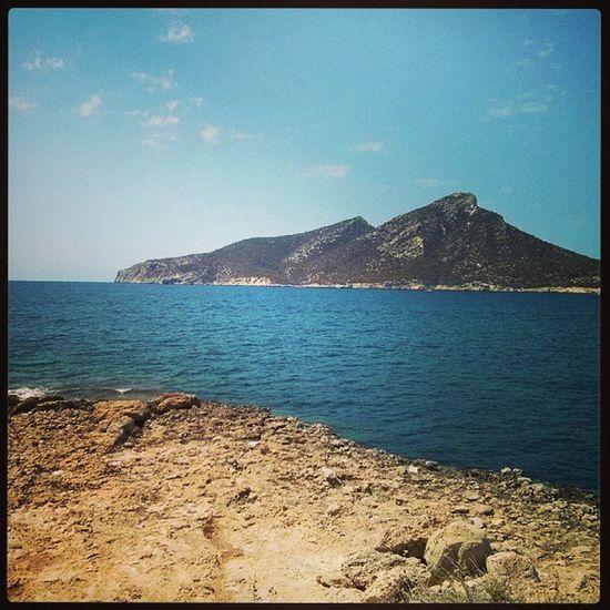 Sant Elm. Sa Dragonera al fons. Cap més occidental de Mallorca. Primera aturada de sa ruta d'avui.