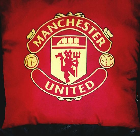 Manchesterunited ManUtd. Man U Man Utd Football Football Club Mufc Mu Football Team Emblems Cushion Football Team Footballteam Red&yellow Football Teams Man Utd. Football Merchandise Footballmerchandise Red Devils RedDevils Reddevil Red Devil Reddevilforever FootballTeamEmblems Football Emblems Signs, Signs, & More Signs