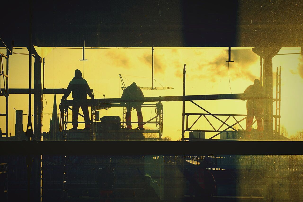 Workers working at construction site