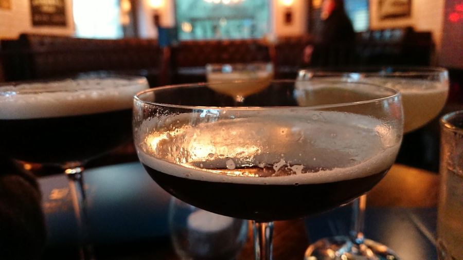 EyeEm Selects Drink Alcohol Wineglass Drinking Glass Refreshment Cocktail Close-up Focus On Foreground Indoors  Food And Drink Table Martini Freshness Espresso Martini Espresso Martinis Happy Hour