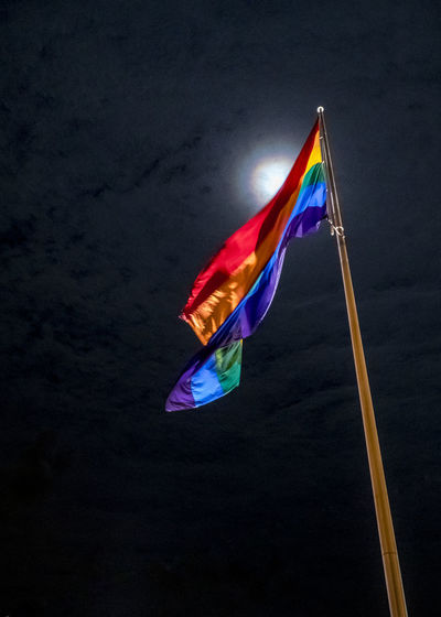 Night Photography Nightphotography Flag Moonlight Multi Colored No People Outdoors Pride